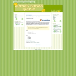 Bunda Rie Blogger Template