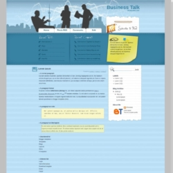Business Talk Blogger Template