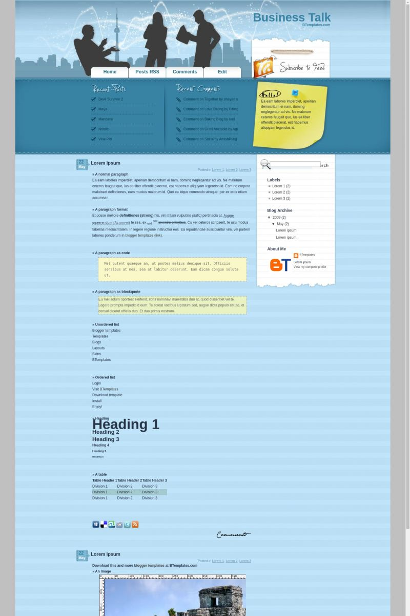 Download Business Talk Blogger Template