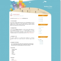 Business Time Blogger Template