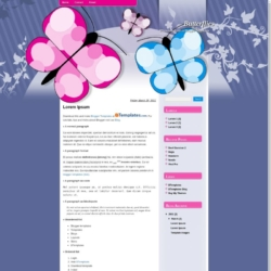 Butterflies Blogger Template