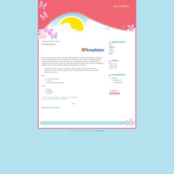 Butterfly Blogger Template