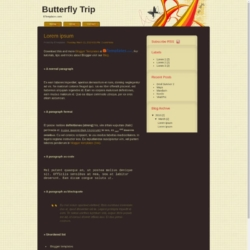 Butterfly Trip Blogger Template