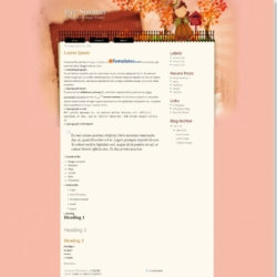 Bye Summer Blogger Template