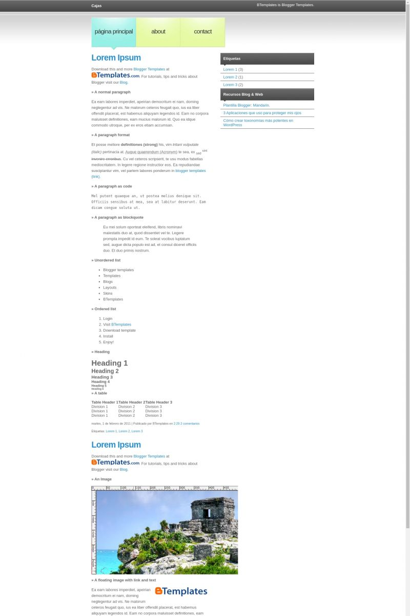 Download Cajas Blogger Template