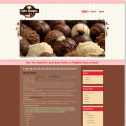 Cake Recipes Blogger Template