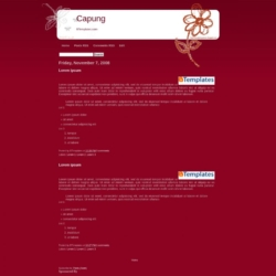 Capung Blogger Template