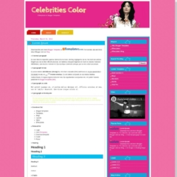 Celebrities Color Blogger Template