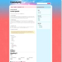 Celebrity HQ Blogger Template