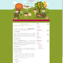 Childhood Blogger Template