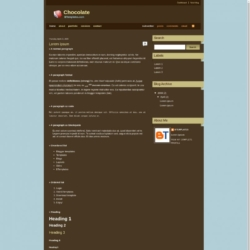 Chocolate Blogger Template