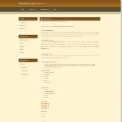 Chocolate Brown Blogger Template