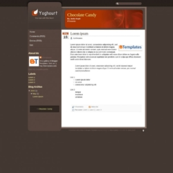 Chocolate Candy Blogger Template