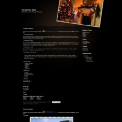 Christmas Blog Blogger Template