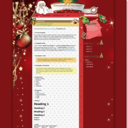 Christmas in my heart Blogger Template