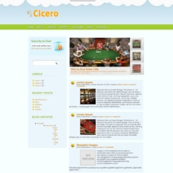 Cicero Blogger Template