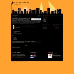 City Sleeps 3C Blogger Template