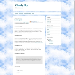 Cloudy Sky Blogger Template