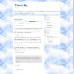 Cloudy Sky Blogger Template