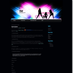 Club Theme Blogger Template
