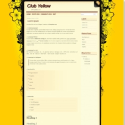 Club Yellow Blogger Template