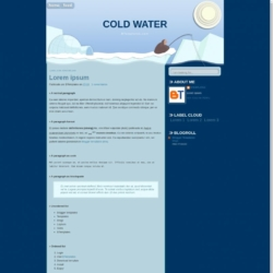 Cold Water Blogger Template