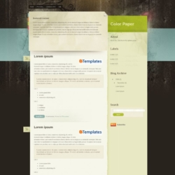 Color Paper Blogger Template
