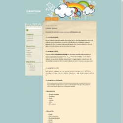 Colored Noise Blogger Template