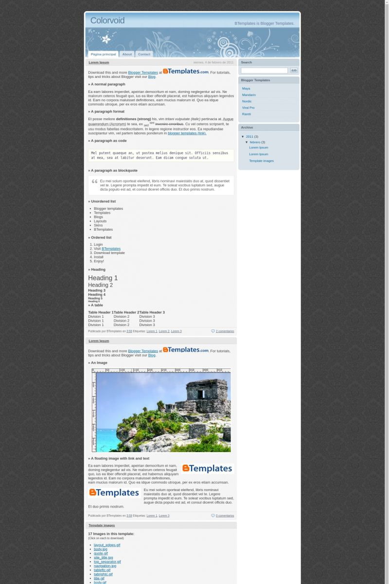 Download Colorvoid Blogger Template