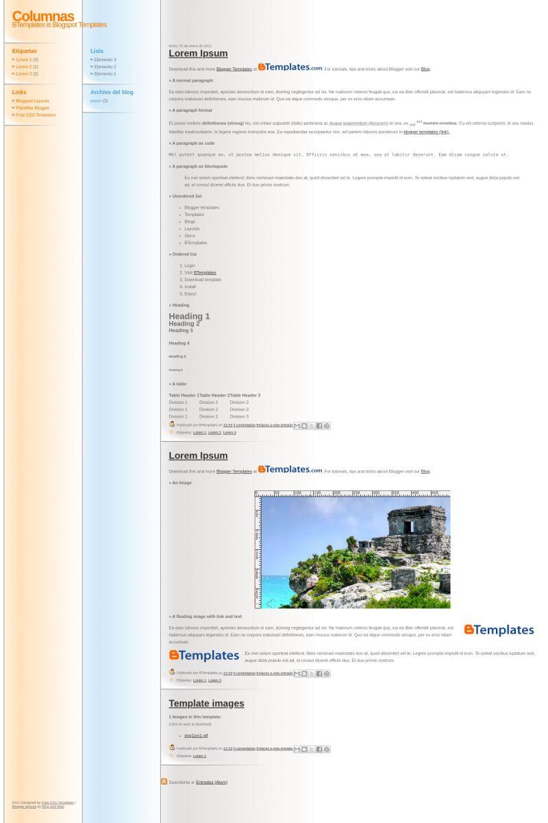 Download Columnas Blogger Template