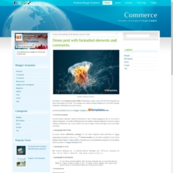 Commerce Blogger Template