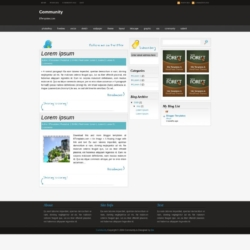 Community Blogger Template