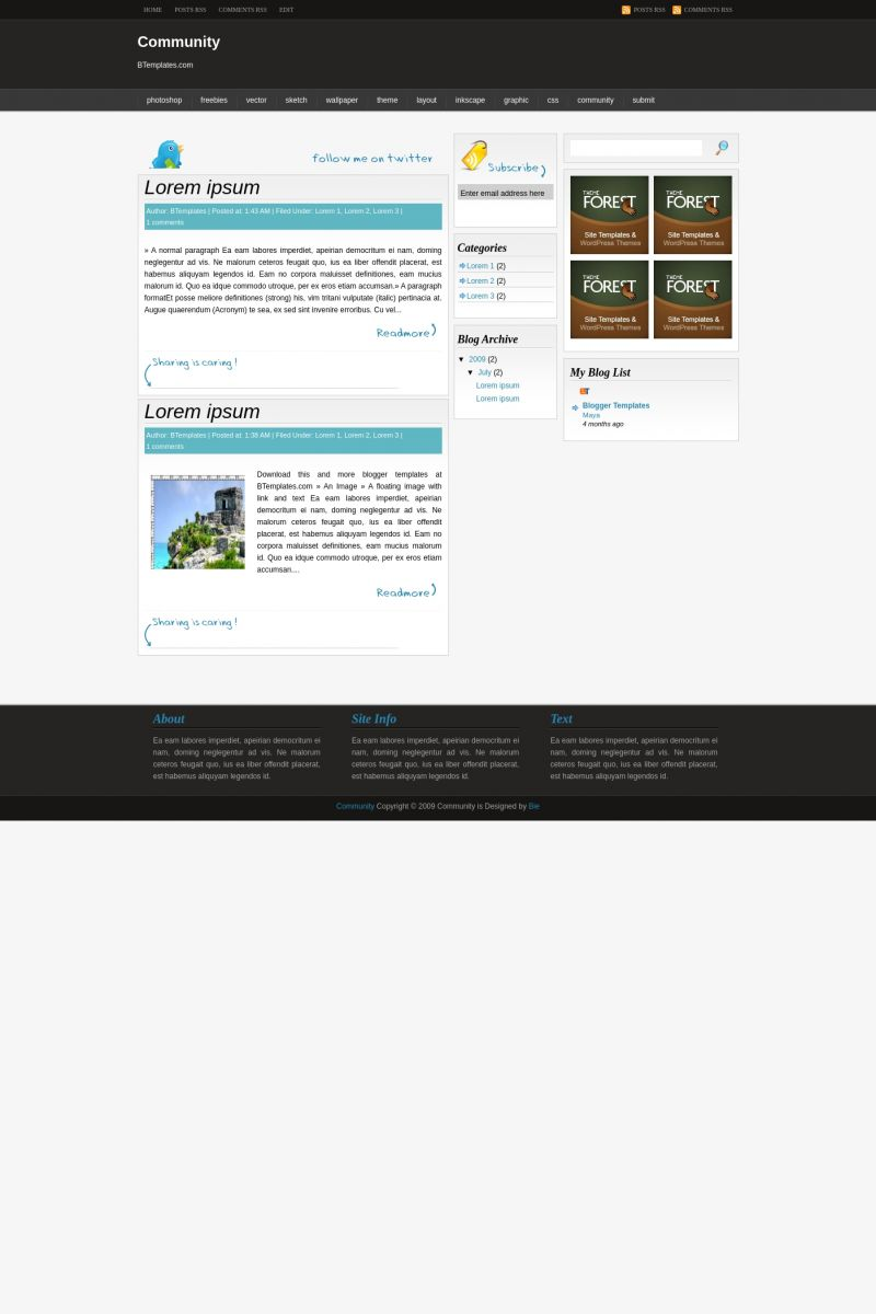 Download Community Blogger Template