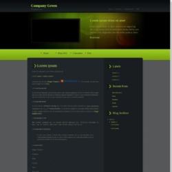 Company Green Blogger Template