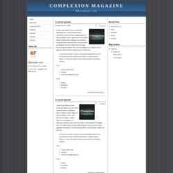 Complexion Magazine Blogger Template