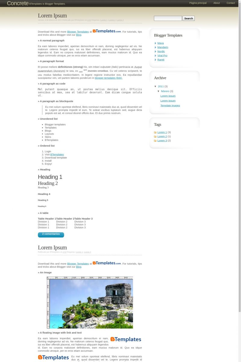 Download Concrete Blogger Template
