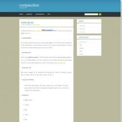 Conjunction Blogger Template