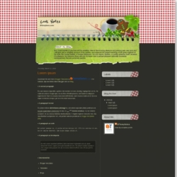 Cook Notes Blogger Template