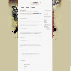 Corbies Blogger Template