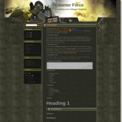 Counter Force Blogger Template