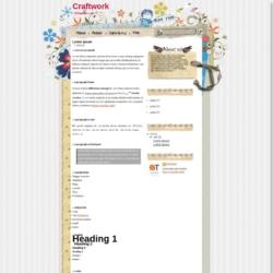 Craftwork Blogger Template