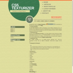 CS5 Texturizer Blogger Template