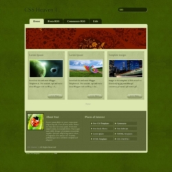 CSS Heaven 1 Blogger Template