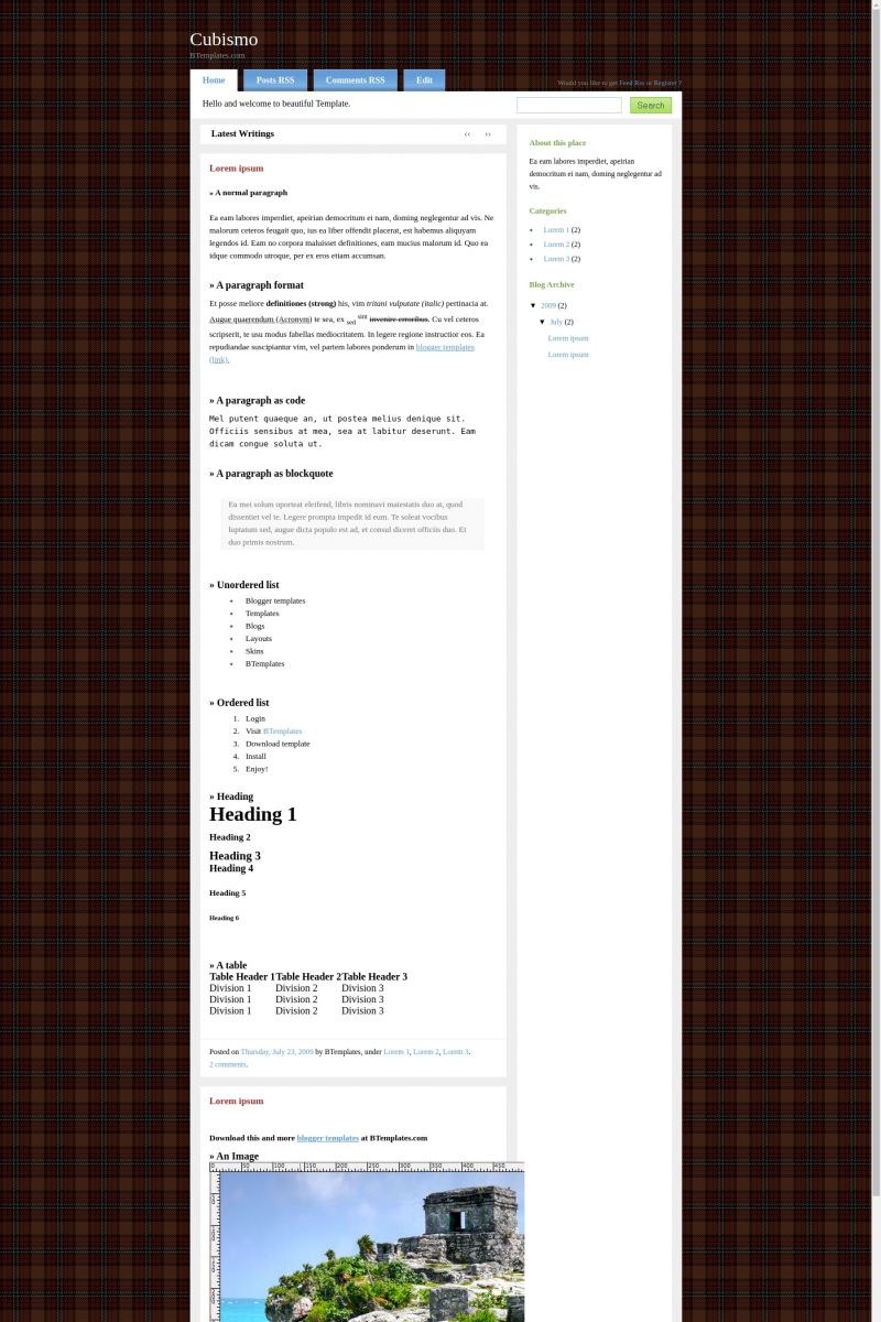 Download Cubismo Blogger Template