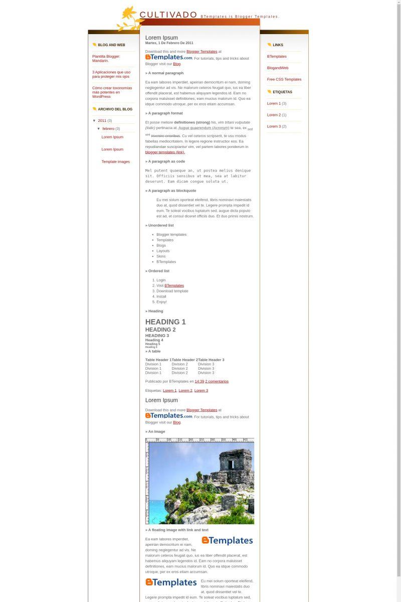 Download Cultivado Blogger Template