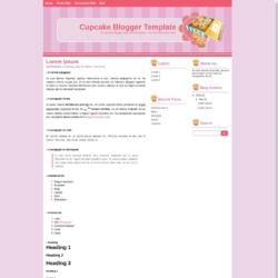Cupcake Blogger Template