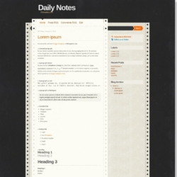 Daily Notes Blogger Template
