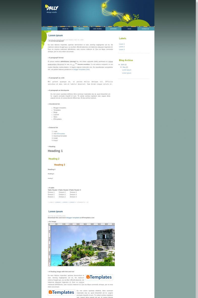 Download Dally Studio Blogger Template