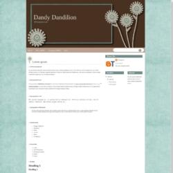 Dandy Dandilion Blogger Template