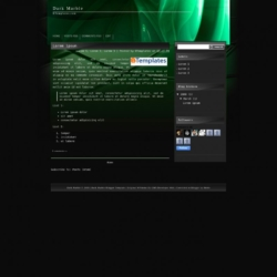Dark Marble Blogger Template